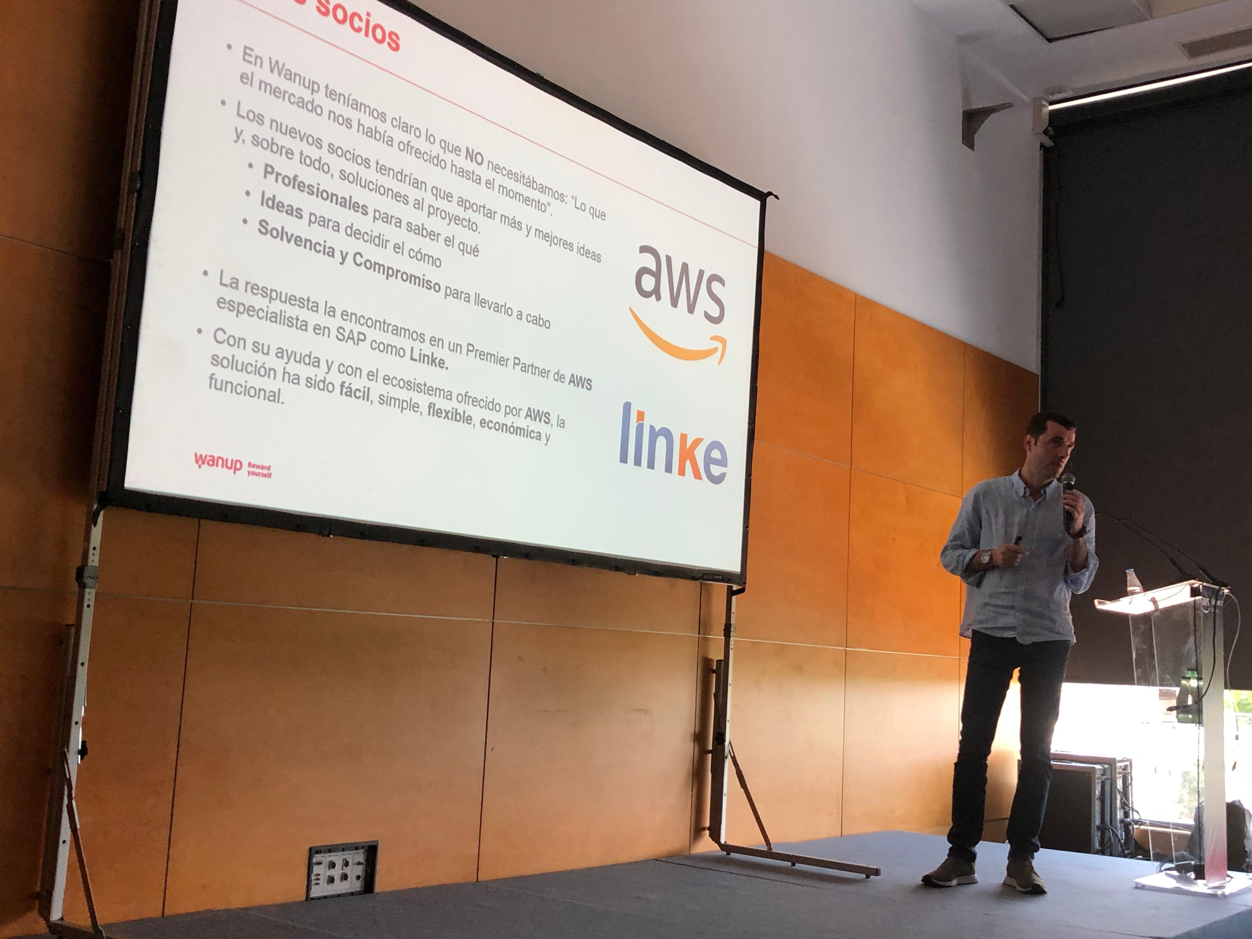 aws summit madrid 2018 Wanup AWS Linke