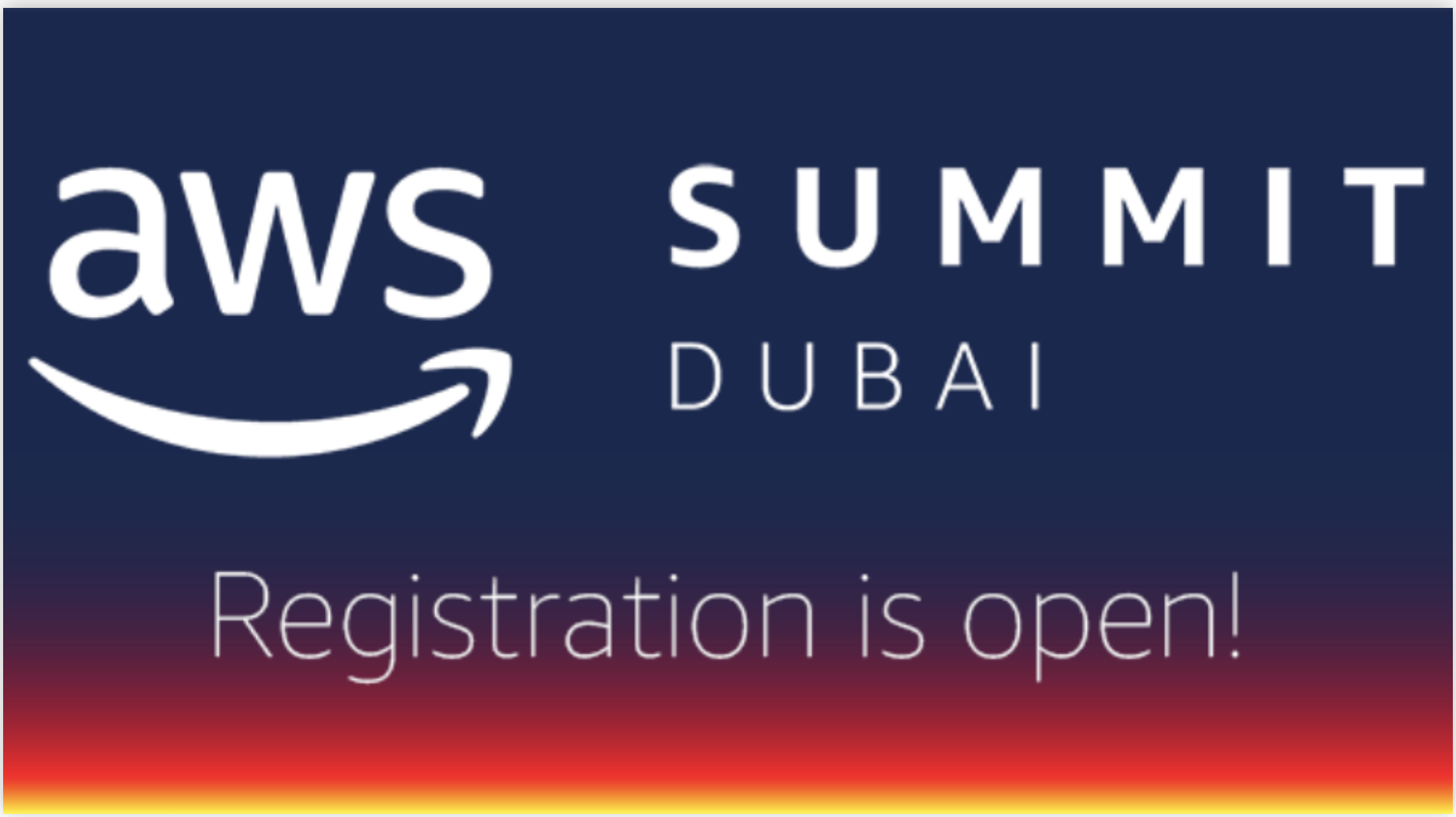 Are you coming to the AWS Summit Dubai?